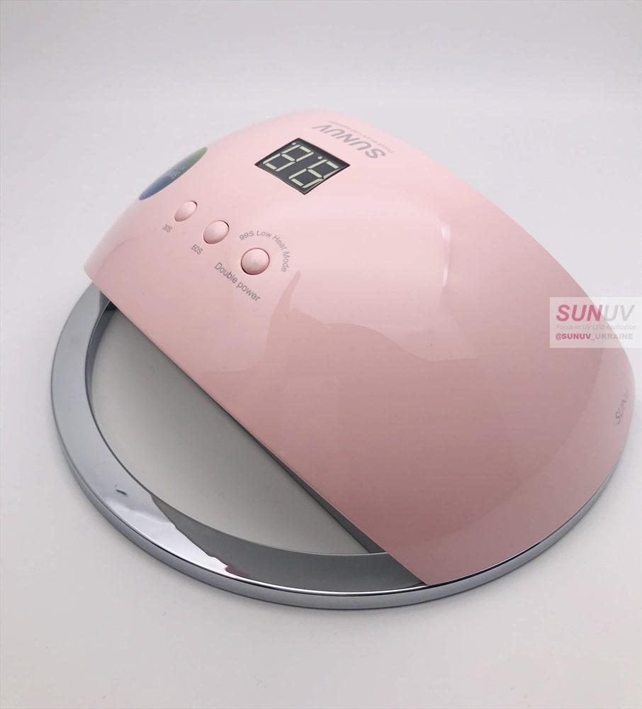 Лампа для маникюра SUN 6, розовая
